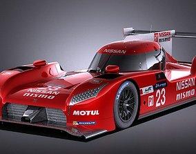 3D Nissan GT-R LM Nismo Race car 2016 VRAY