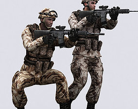 animated game-ready 3DRT - US Army Marines