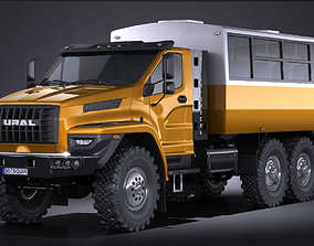 3D model GAZ Ural Next 2015 Rotational Bus