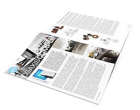 Open Magazine 3D model