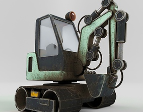 Excavator LowPoly 3D asset