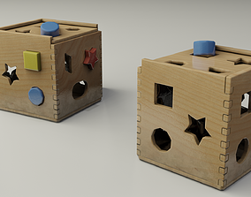 3D asset game-ready Children Toy Shapes