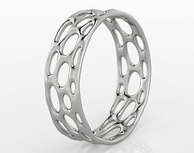 3D print model ring Voronoi Ring