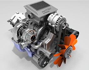 Wankel Engine 3D print model