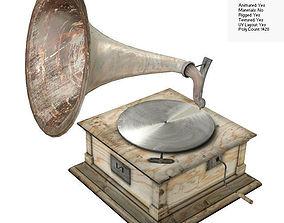3D asset Old Gramophone