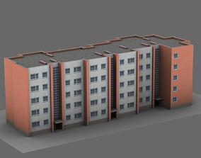 3D asset Soviet 5-story apartment building of 1-318-51