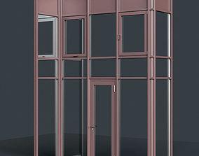 3D model Curtain Wall Facade System