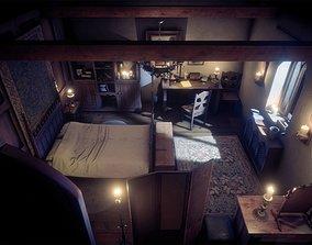 3D asset Medieval Room Interior Props