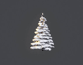 Low Poly Tree Winter Stylish NewYear 3D model