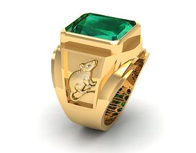 3D print model 772 Mouse Men Ring