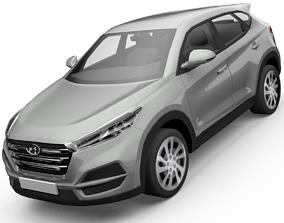 animated Hyundai Tucson SUV 3D Model