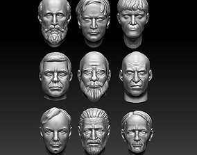 3D print model heads