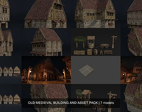 3D model OLD MEDIEVAL BUILDING AND ASSET PACK