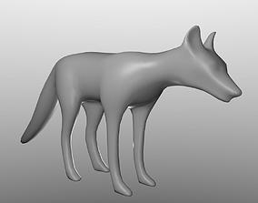 Fox BaseMesh 3D asset