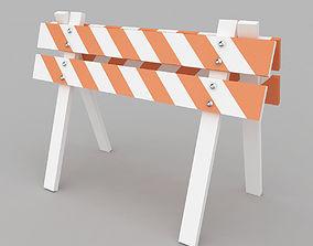 Safety Barrier 3D model entry