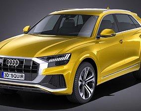 3D model LowPoly Audi Q8 S-line 2019