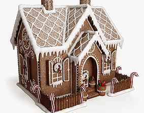3D model powder Gingerbread house