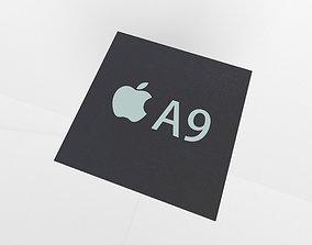 Apple CPU A9 3D model