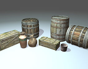 Container pack 3D model