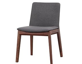 Darrion Upholstered Parsons Chair in Gray 3D