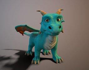 3D asset Cartoon young dragon