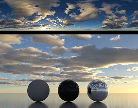 Skydome HDR - Sunrise Cumulus Stratus Cloudy Sky - 1 3D