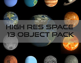 HD Space Pack 3D asset