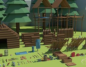 3D asset Ultimate Low Poly Survival Pack