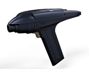 Accurate replica of Phaser from Star Trek 3D print model 2