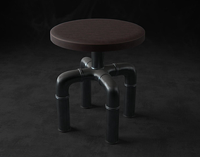 Pipe Stool PBR 3D