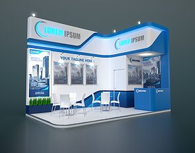 exhibition stand 3d model 6x3m 013