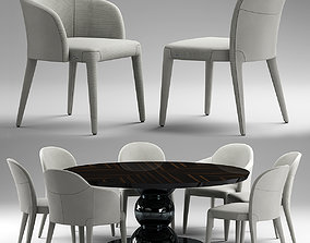 3D fendi Audrey Chair and table