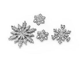 3D printable model Snowflakes details
