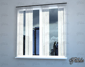 3D model Curtains glamour
