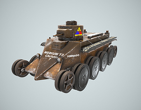 3D model Tank Christie T-3 M1931