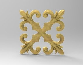 kazakhstan 3D print model Woodcarving decor for CNC