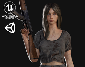 3D model Survival Girl - Game Ready