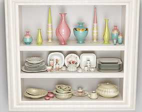 3D dishes cupboard