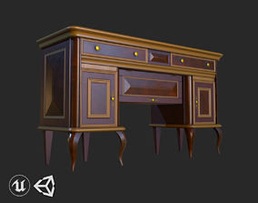Vintage Furniture Living Room Commode PBR Game 3D model