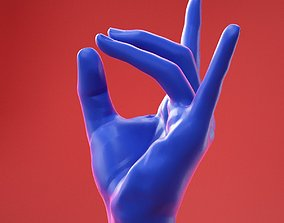 3D Male Hand 28