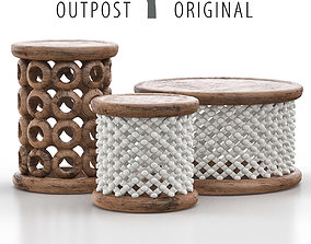 3D Bamileke and Bracelet Stools