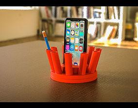 The Thorn Rotatable Pen Holder 3D print model