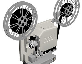 Old Film Projector 3D
