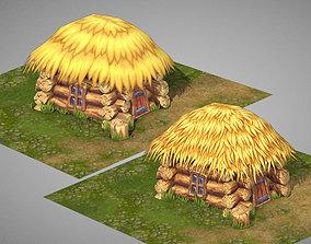 3D asset Small peasant hut