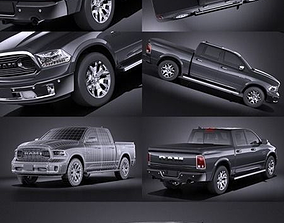 3D Dodge RAM 1500 Limited 2015 VRAY