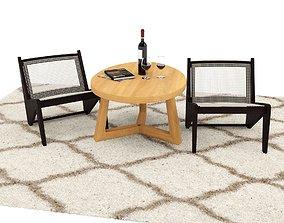 Lounge set living-room 3D