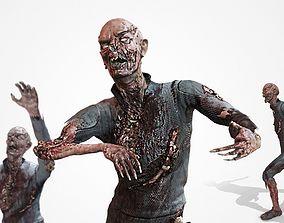 Sci-fi zombie EZ-1 3D asset rigged