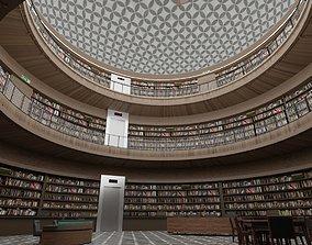 3D asset Public Library Interior
