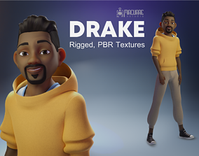Drake rigged character for animation 3D
