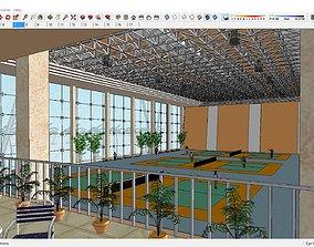 3D model Sketchup Sport building 106